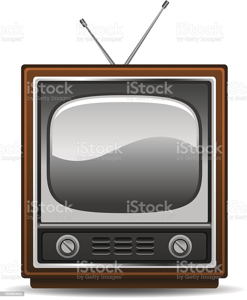 Retro TV royalty-free stock vector art
