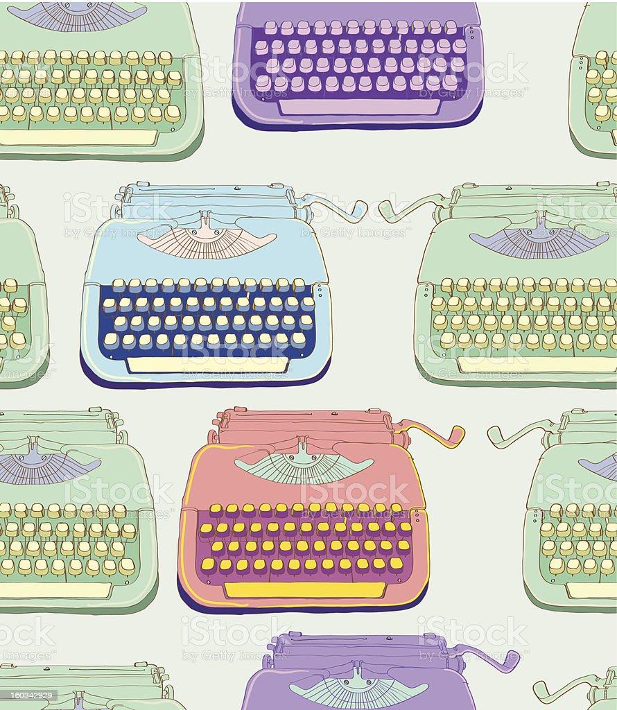 retro typewriter seamless pattern royalty-free stock vector art