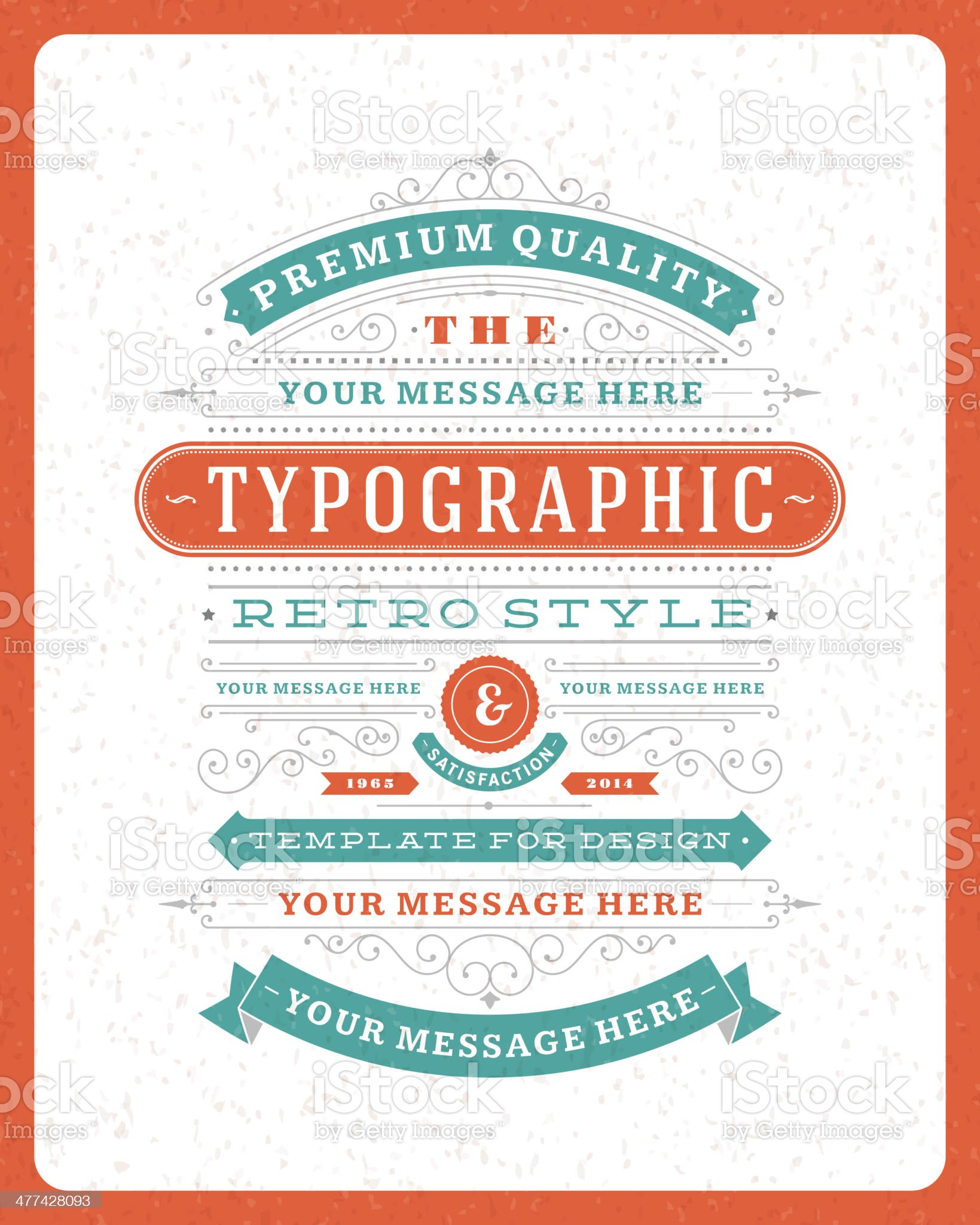 Retro typographic design elements royalty-free stock vector art