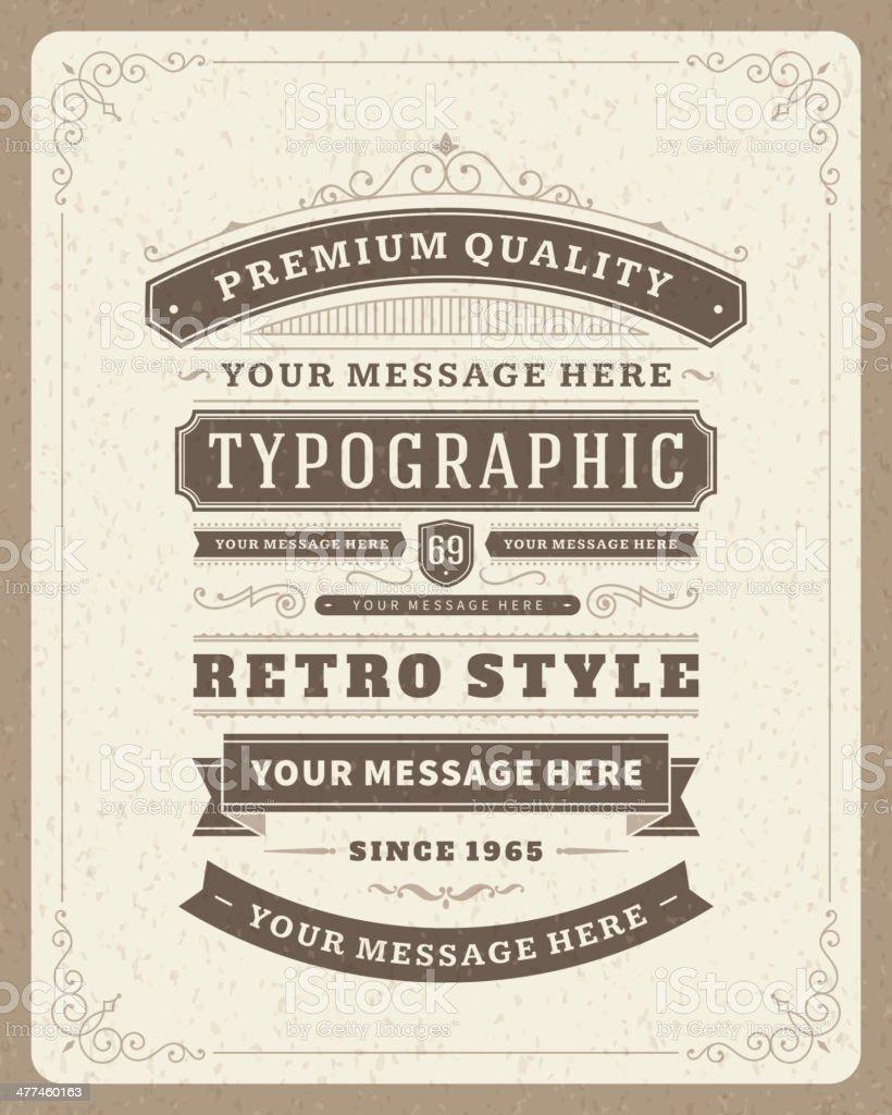 Retro typographic design elements royalty-free stock vector art