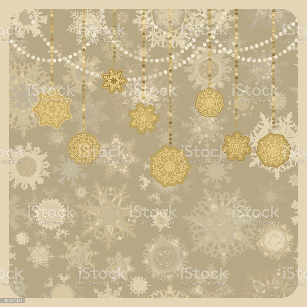 Retro vector Christmas (New Year) card. EPS 8 royalty-free stock vector art