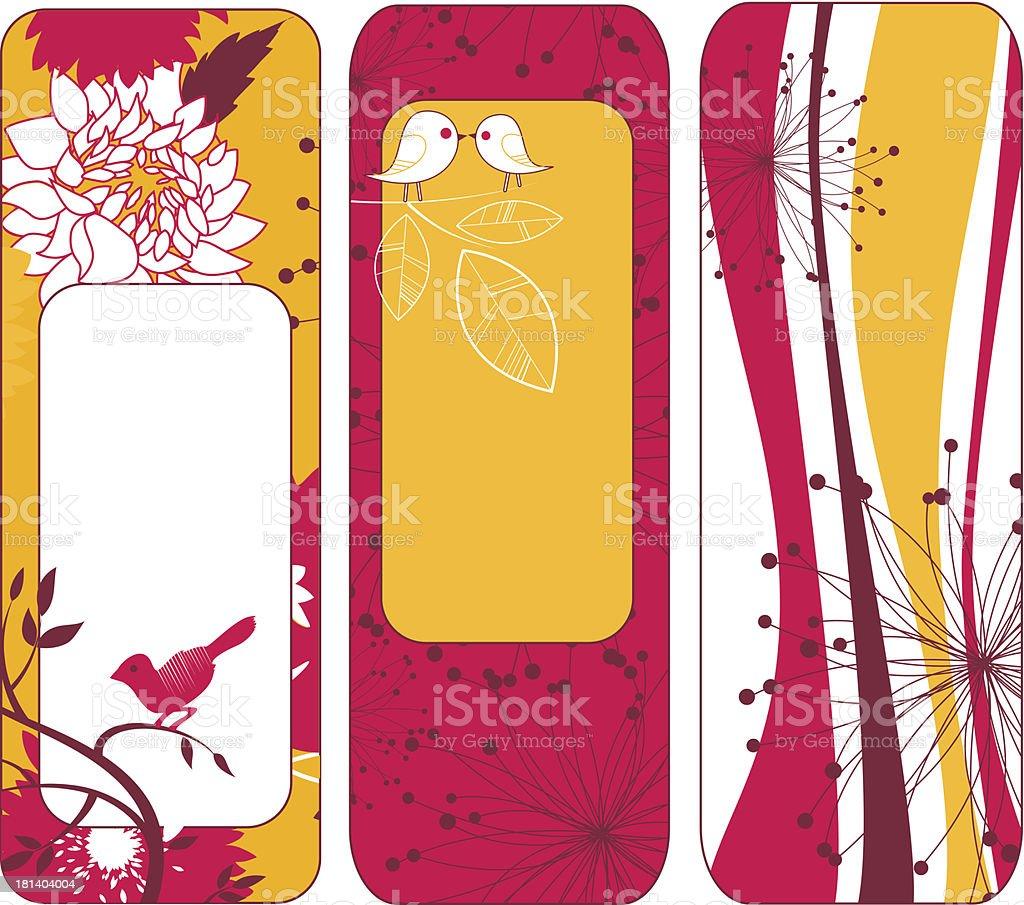 Retro Vertical Banner royalty-free stock vector art