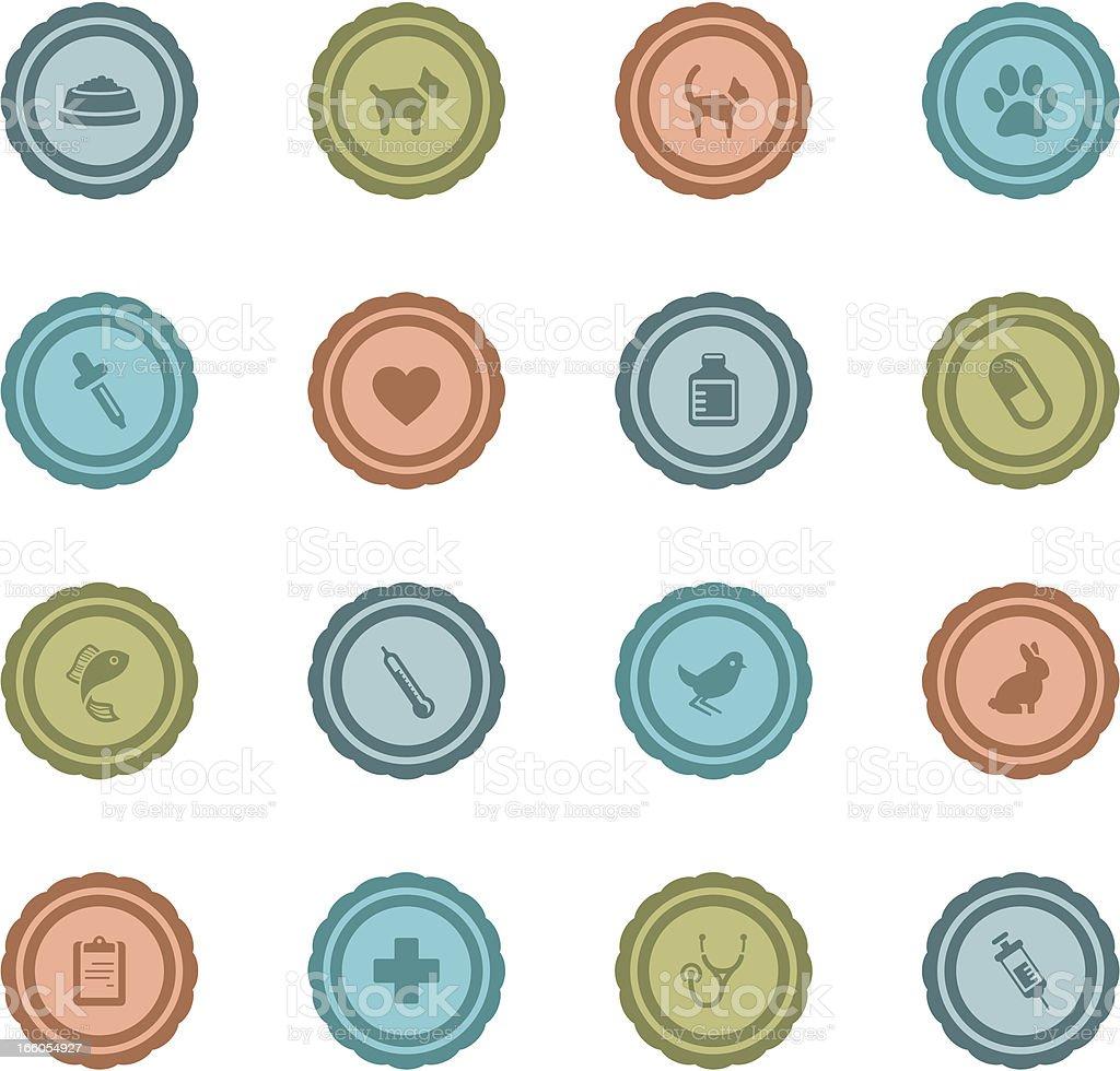 Retro Vet Badges royalty-free stock vector art