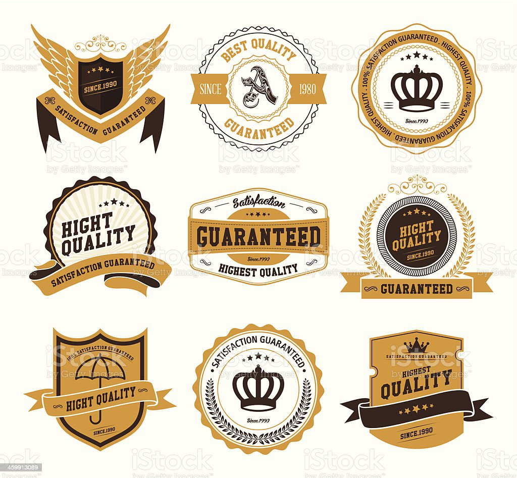 Retro Vintage Badges and Labels royalty-free stock vector art