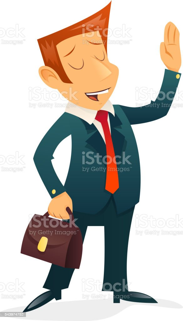 Retro Vintage Businessman Cartoon Character Icon Isolated Design Template Vector vector art illustration