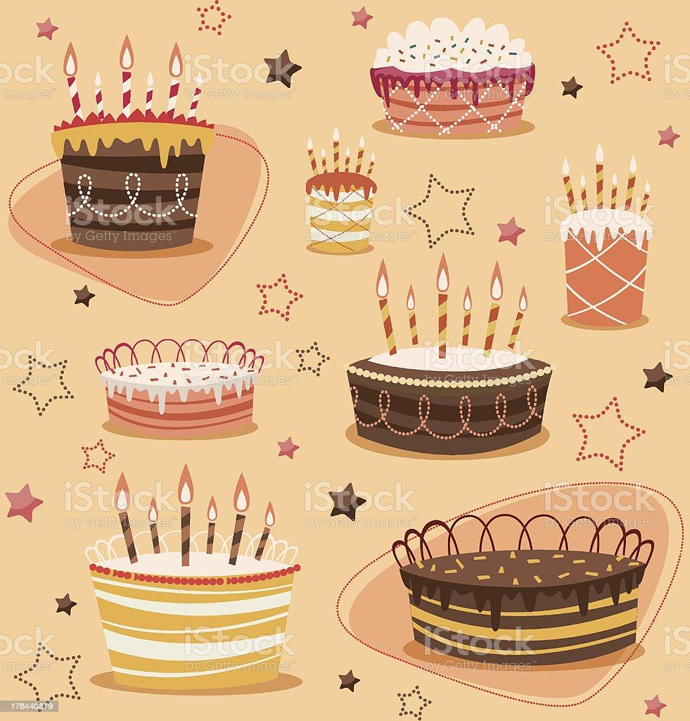 Retro vintage happy birthday pattern royalty-free stock vector art