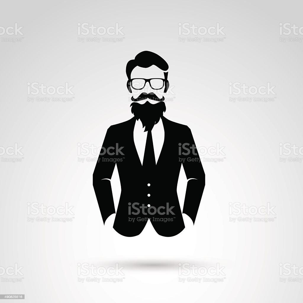 Retro, vintage, hipster gentleman. vector art illustration