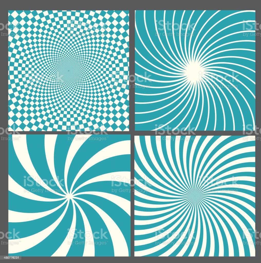 retro vintage hypnotic background. vector art illustration