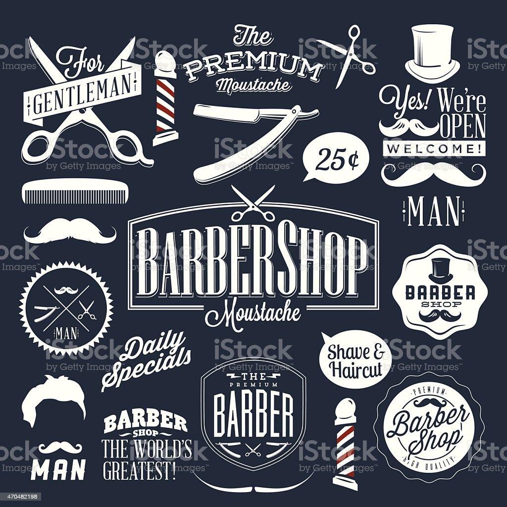 Antique barber shop signs - Retro Vintage Signs For A Barber Shop Royalty Free Stock Vector Art