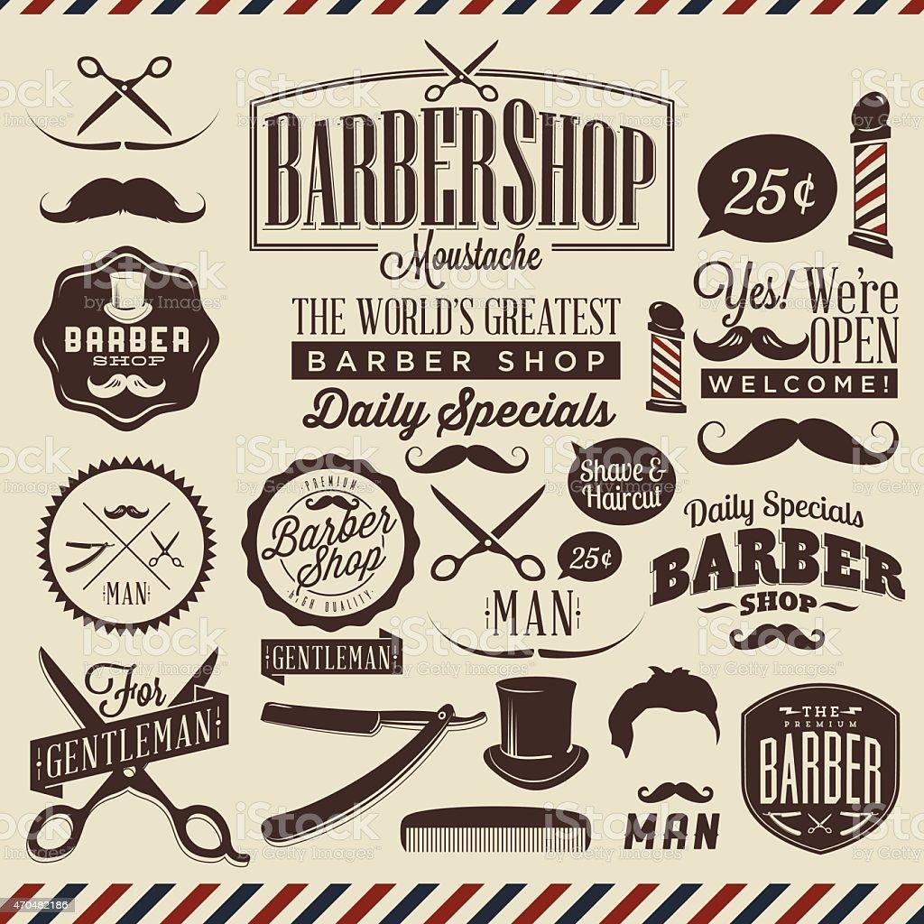 Antique barber shop signs - Retro Vintage Signs For Barber Shop Royalty Free Stock Vector Art
