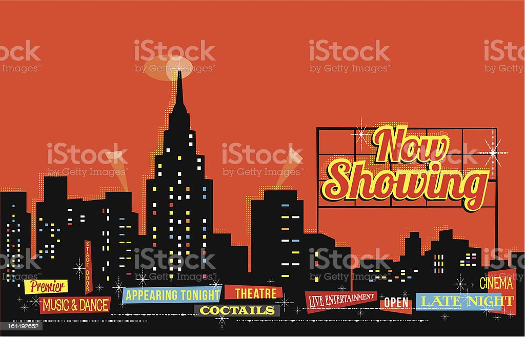 retro vintage stylised city illustration vector art illustration