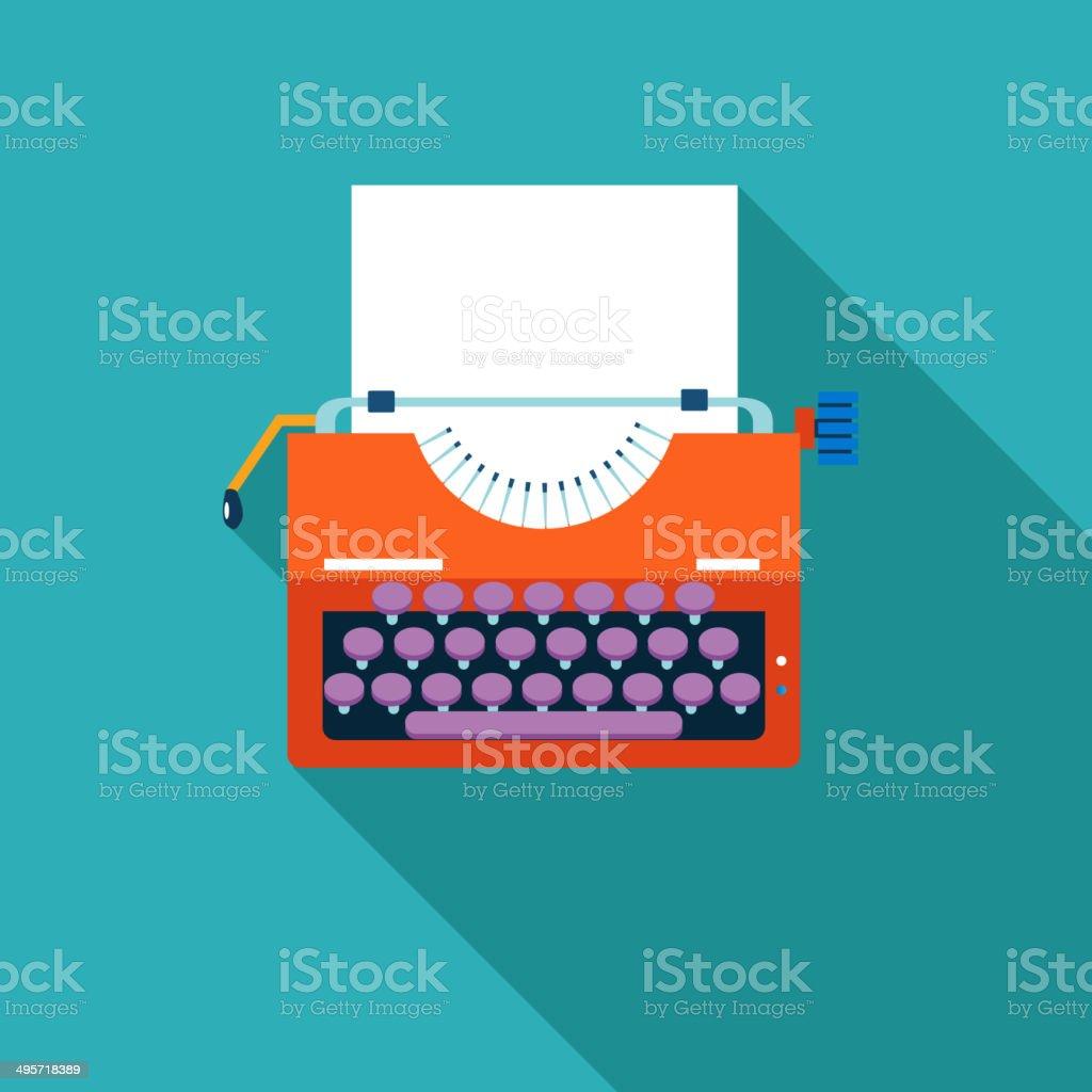 Retro Vintage Symbol Typewriter Vector Illustration vector art illustration