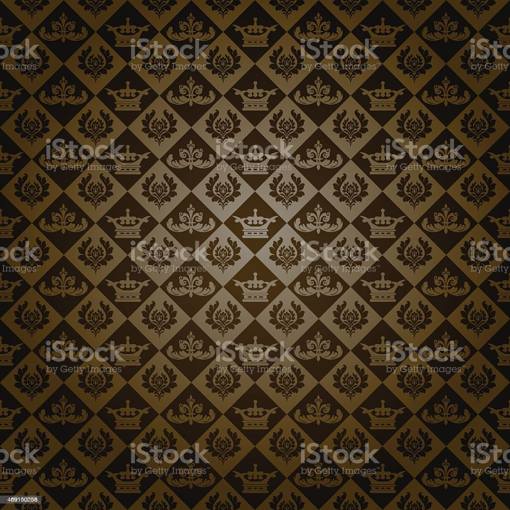 Retro Wallpaper Background Dark Royalty Free Stock Vector Art