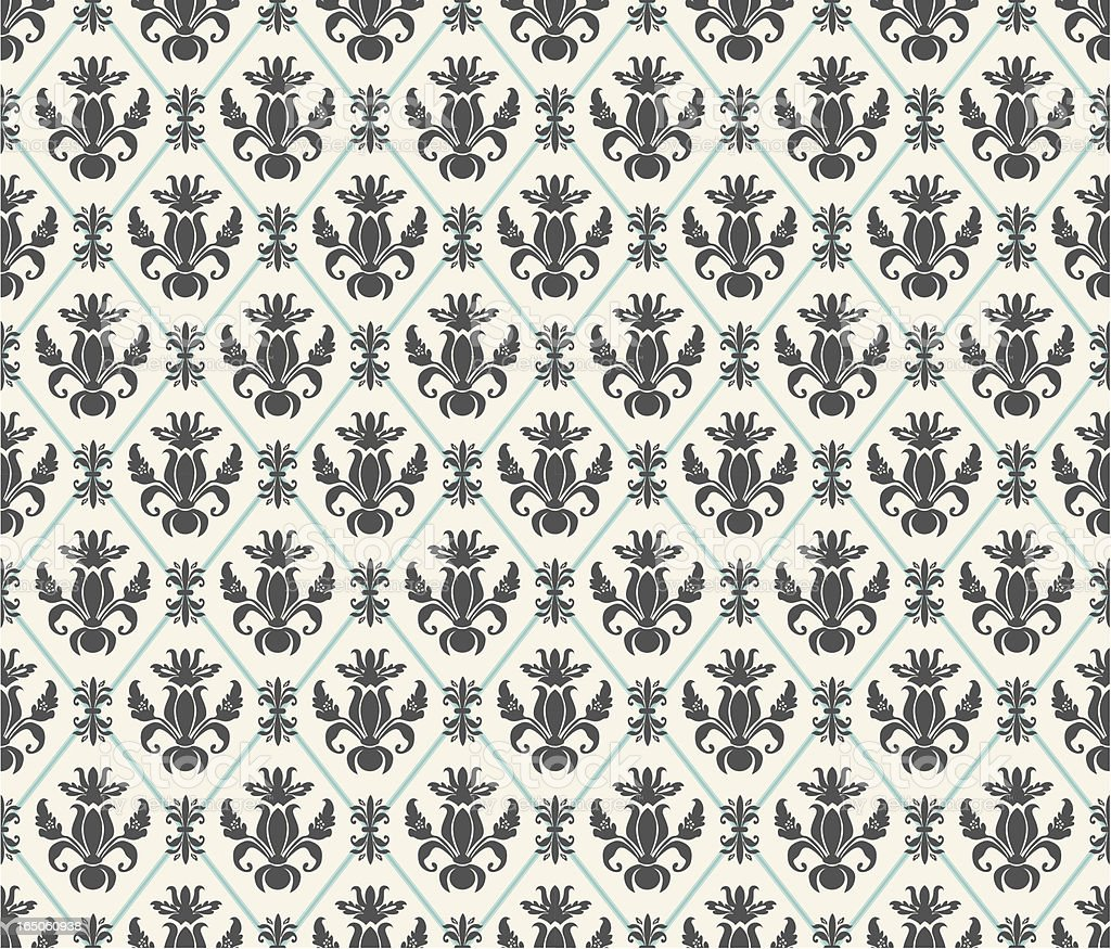 retro wallpaper black and white royalty-free stock vector art