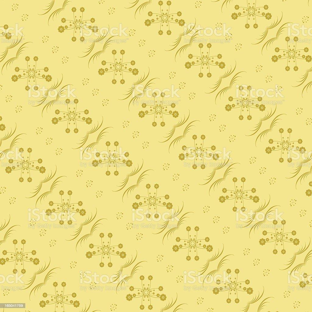 Retro Wallpaper Series Creme royalty-free stock vector art