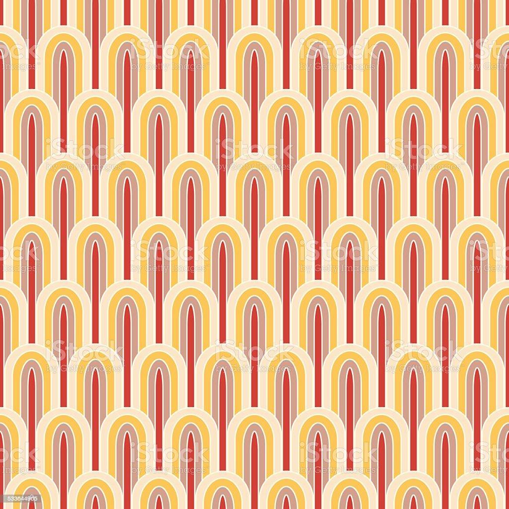 retro wallpaper vector art illustration