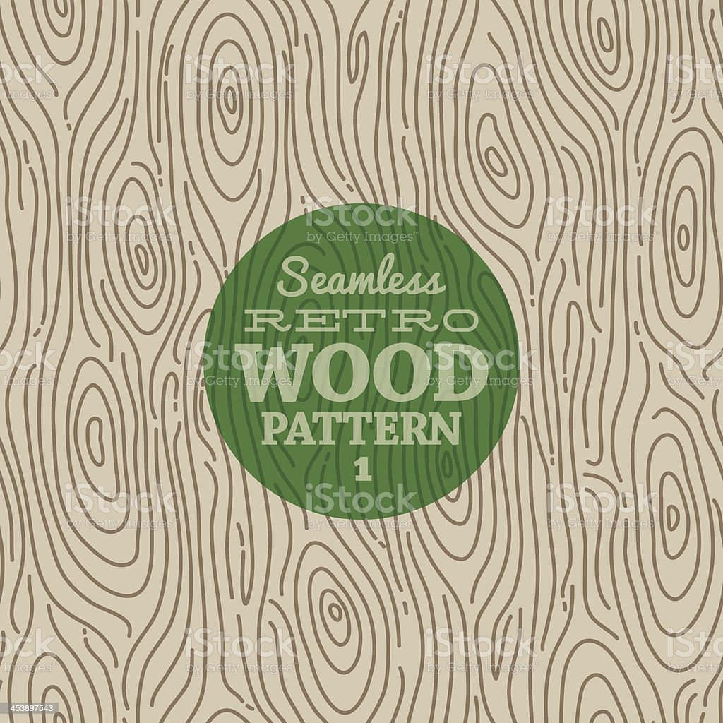 Retro wood seamless background vector art illustration