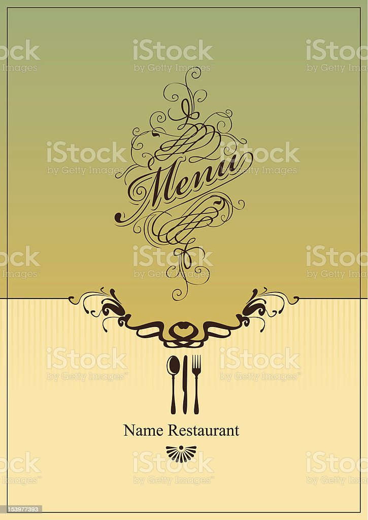 Retro-style cover for restaurant menu royalty-free stock vector art