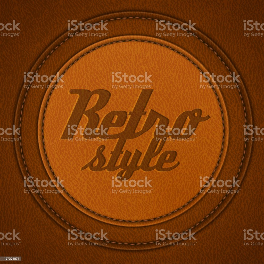 Retro-style leather background vector art illustration