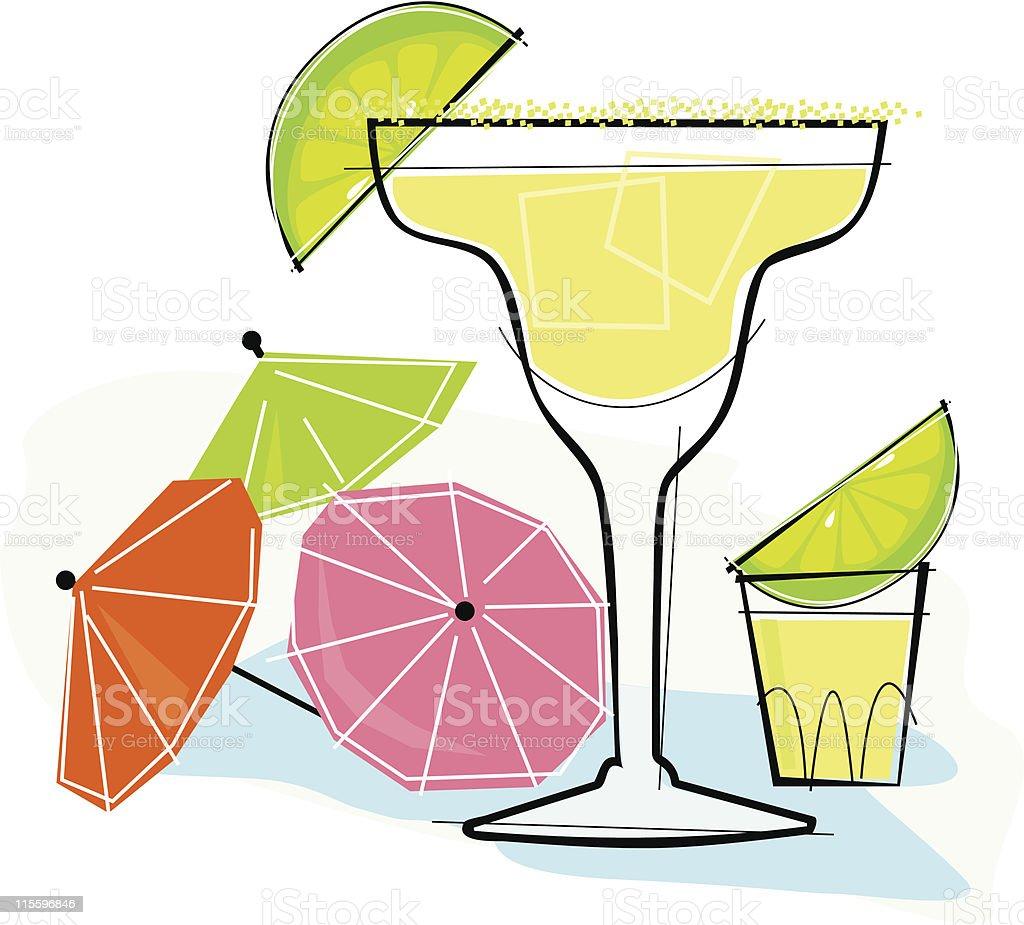 Retro-style Margarita vector art illustration