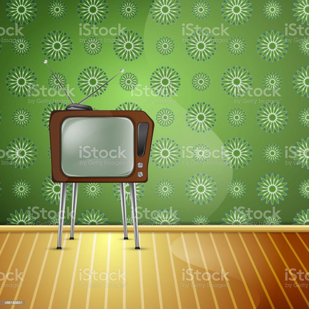 retroTV_wallpaper royalty-free stock vector art