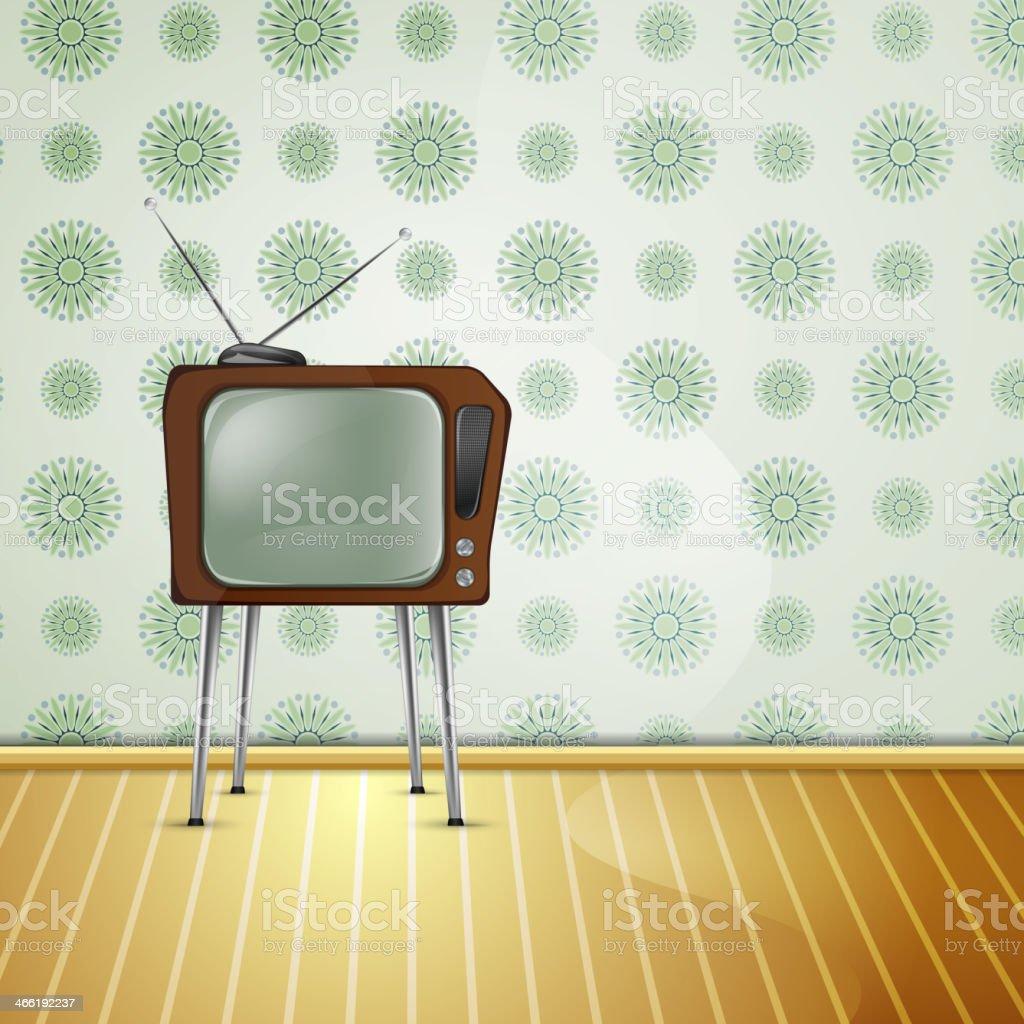 retroTV_wallpaper_lighter royalty-free stock vector art
