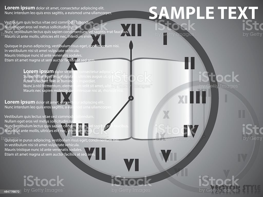 Return time to the book vector art illustration