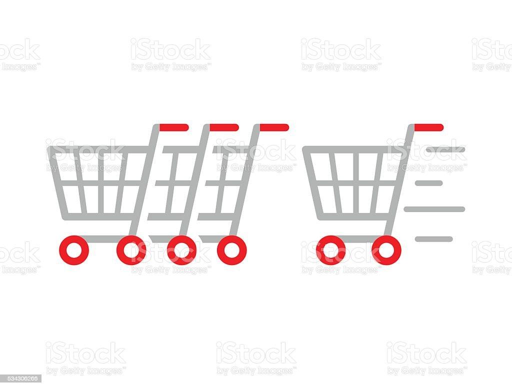 Return Your Cart Here vector art illustration