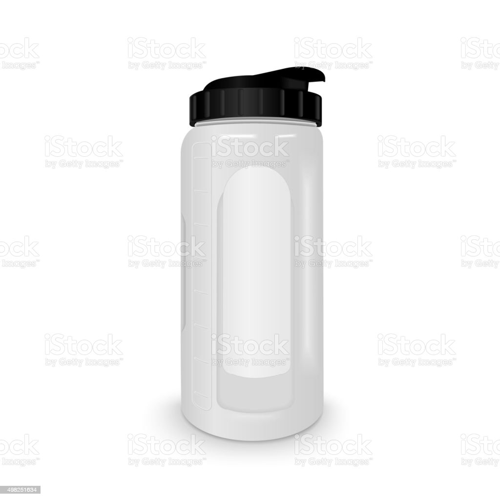 reusable water bottle vector art illustration