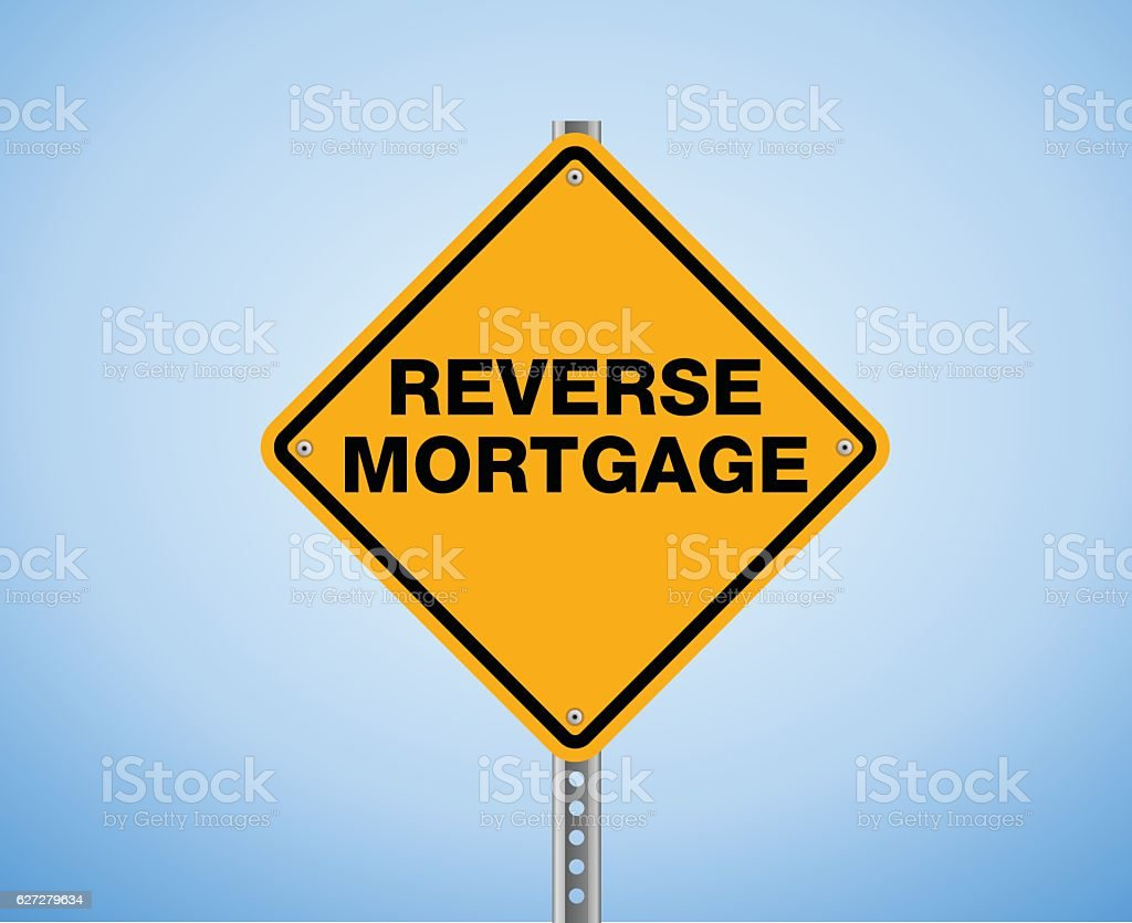 Reverse Mortgage vector art illustration