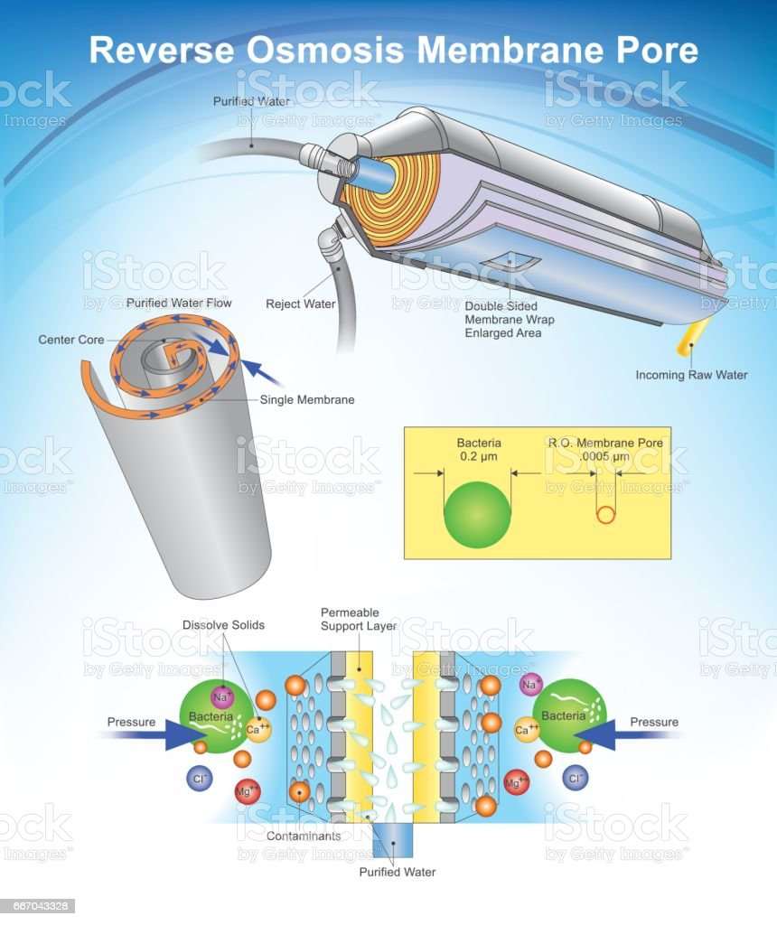 Reverse Osmosis system. vector art illustration