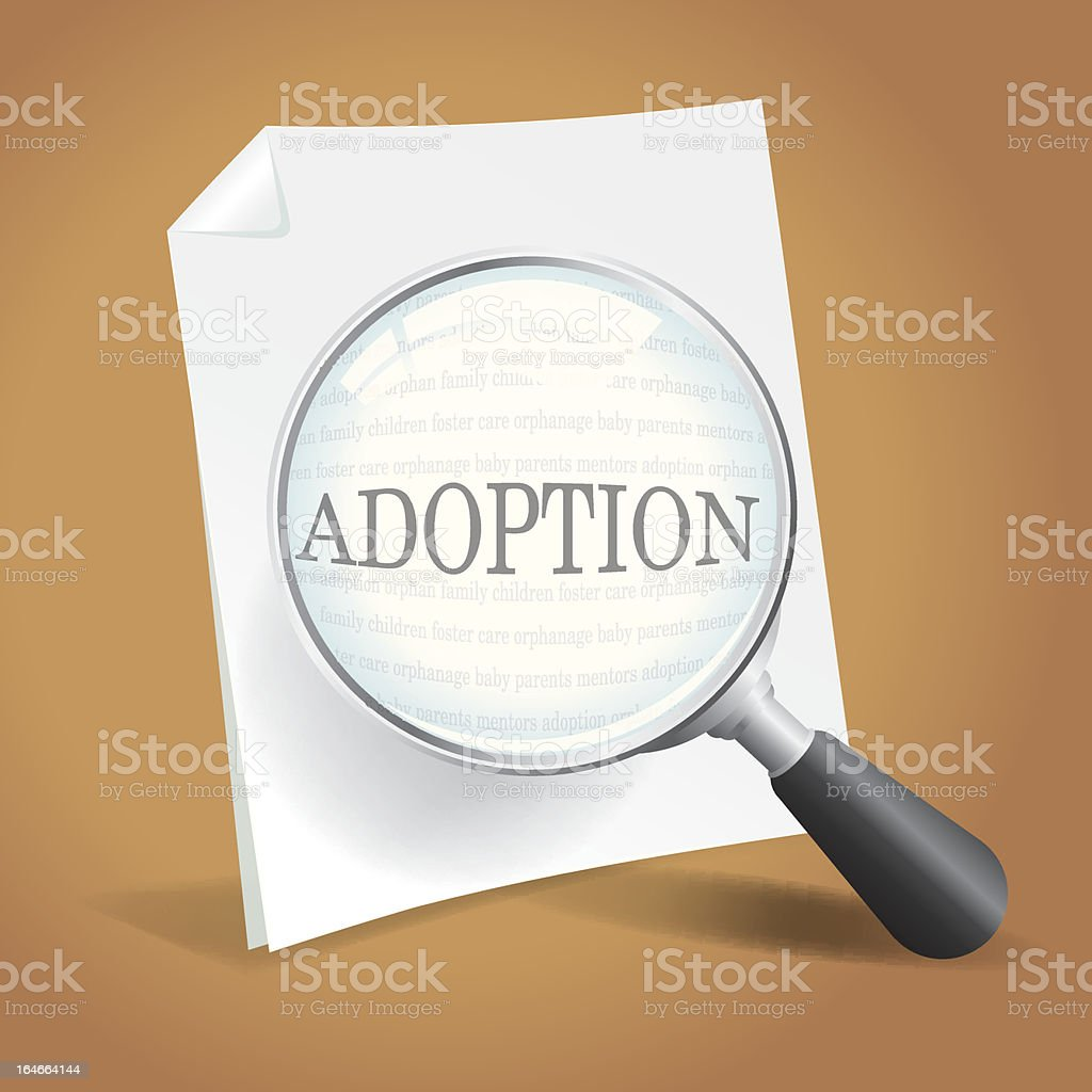Reviewing Adoption Papers royalty-free stock vector art
