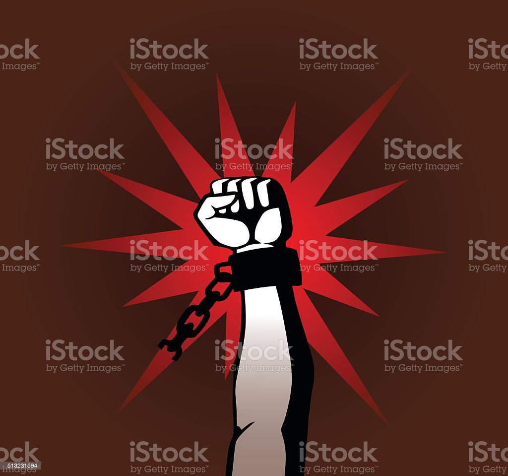 revolution fist vector art illustration