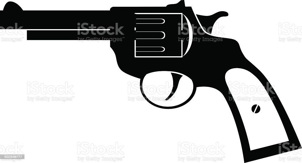 Revolver icon vector art illustration