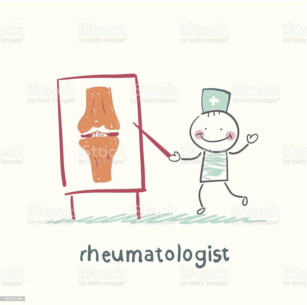 rheumatologist says about the pain vector art illustration