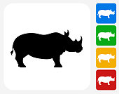 Rhino Icon Flat Graphic Design