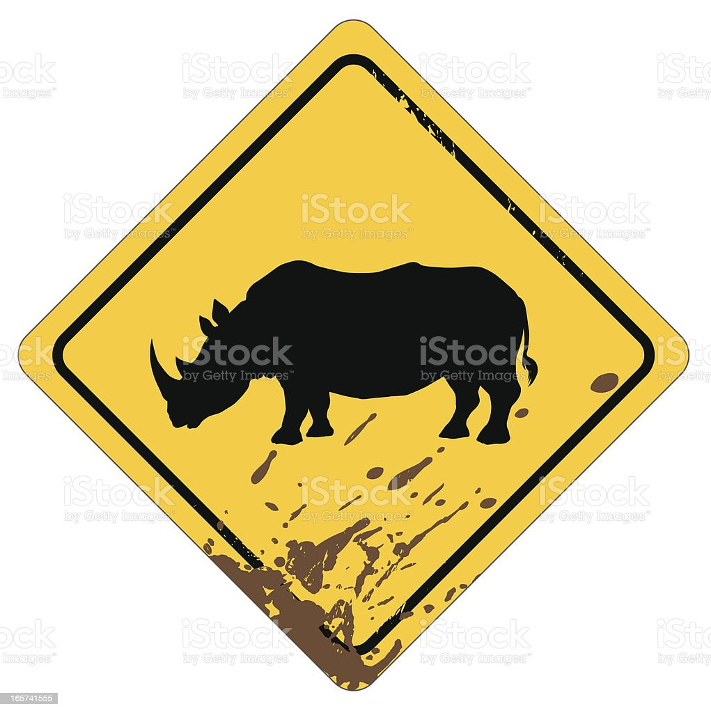 rhino sign royalty-free stock vector art