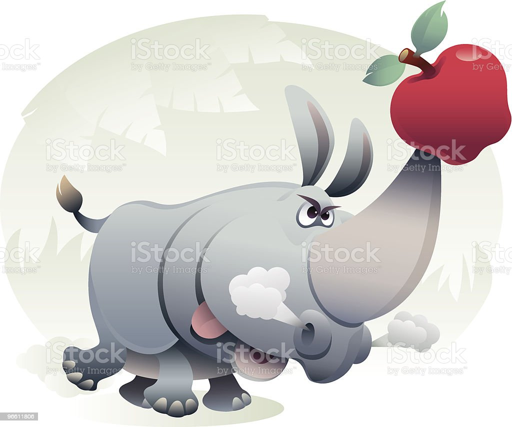 rhino vector art illustration
