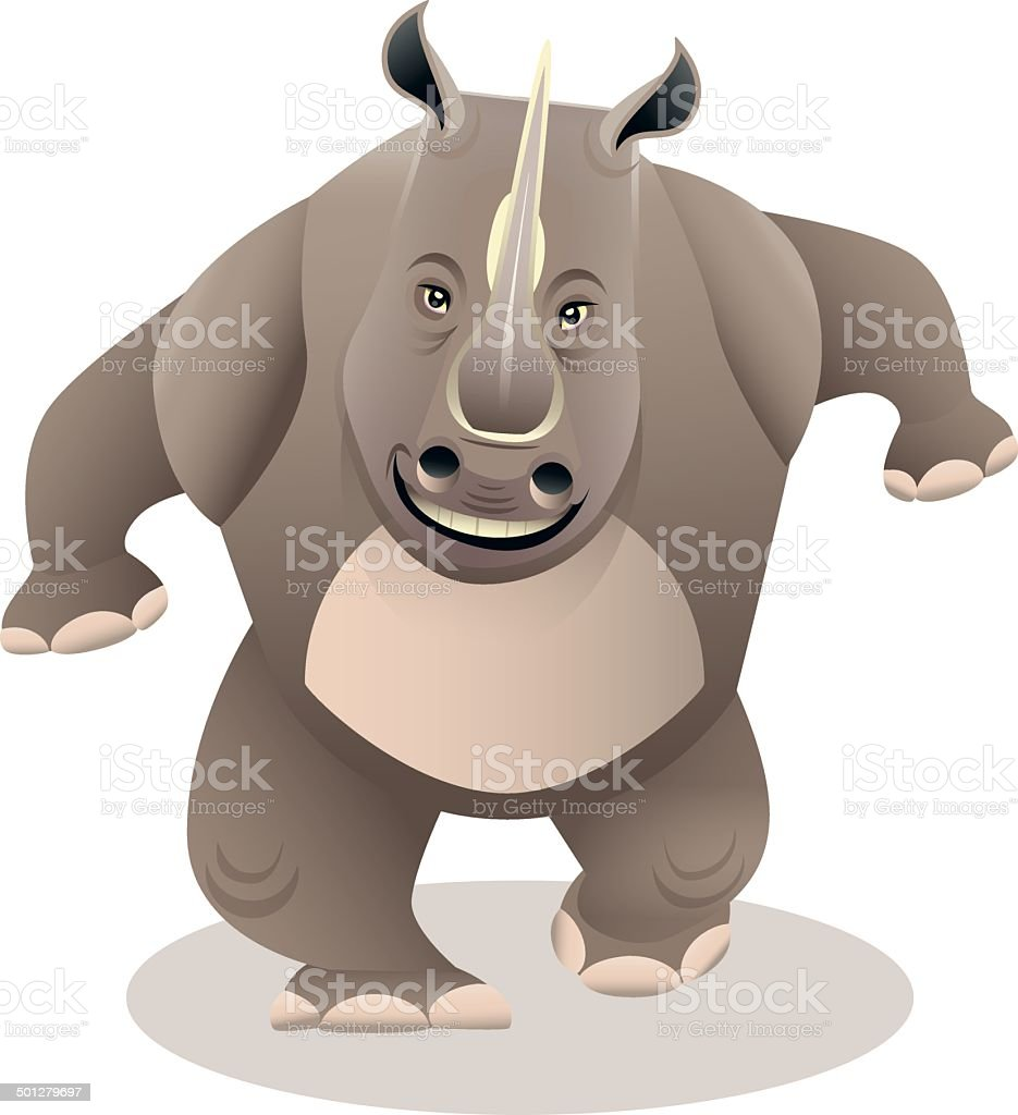 Rhinoceros Walking royalty-free stock vector art