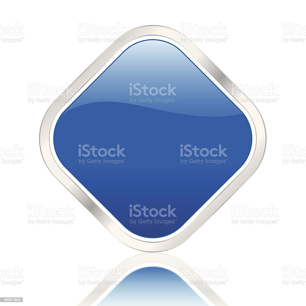 rhomb icon blue royalty-free stock vector art