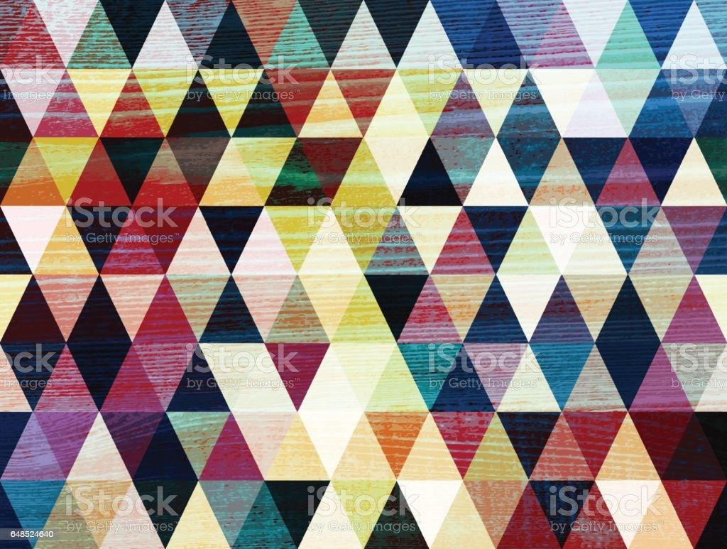 rhombus grunge wooden background vector art illustration