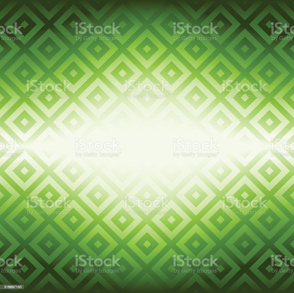 Rhombus with Spark Design. vector art illustration