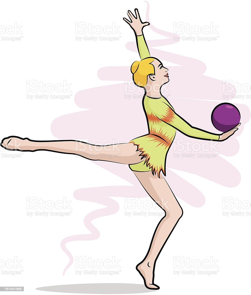 rhythmic gymnastics - ball royalty-free stock photo