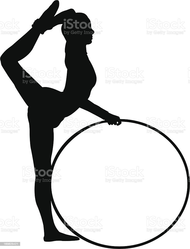 Rhythmic Gymnastics royalty-free stock vector art