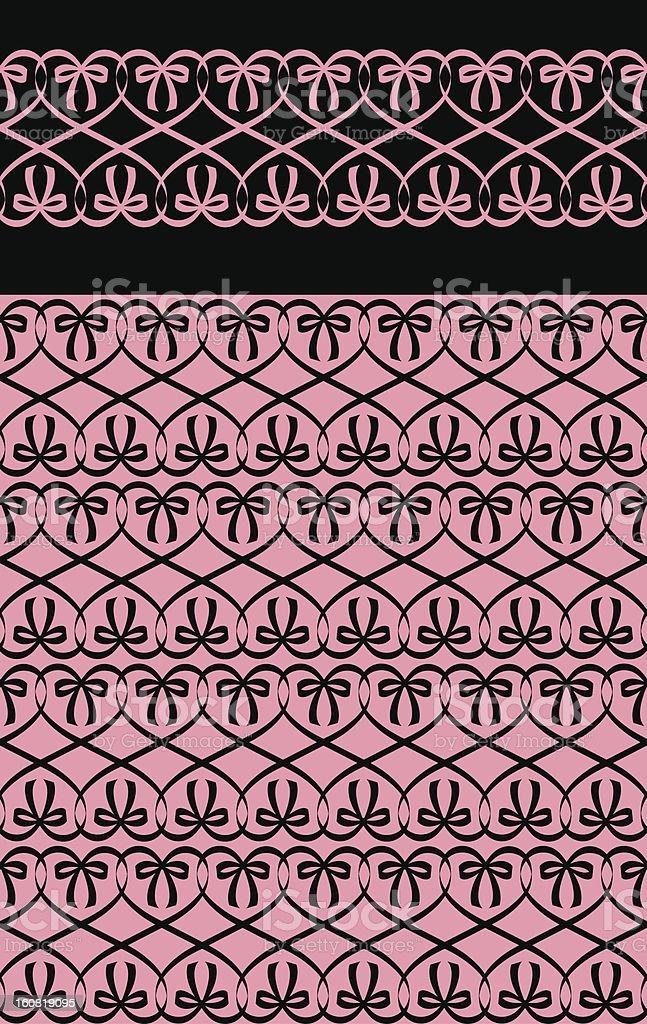 ribbin heart pattern02 vector art illustration
