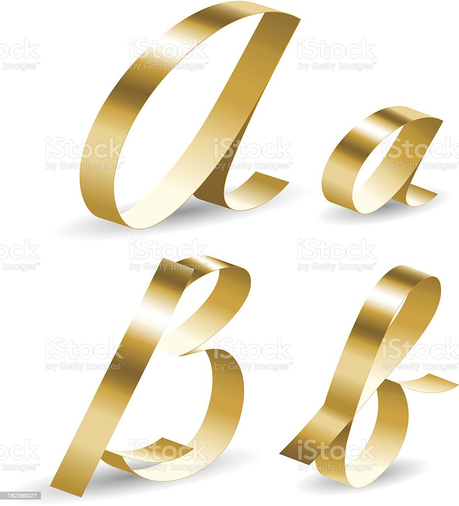 Ribbon alphabet ab royalty-free stock vector art