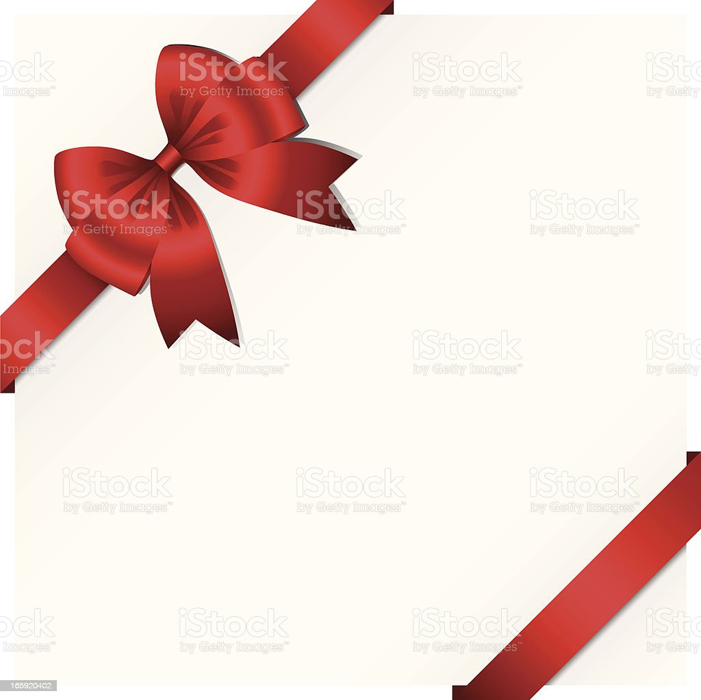 Ribbon and Bow Background royalty-free stock vector art