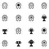 Ribbon and Trophy icons