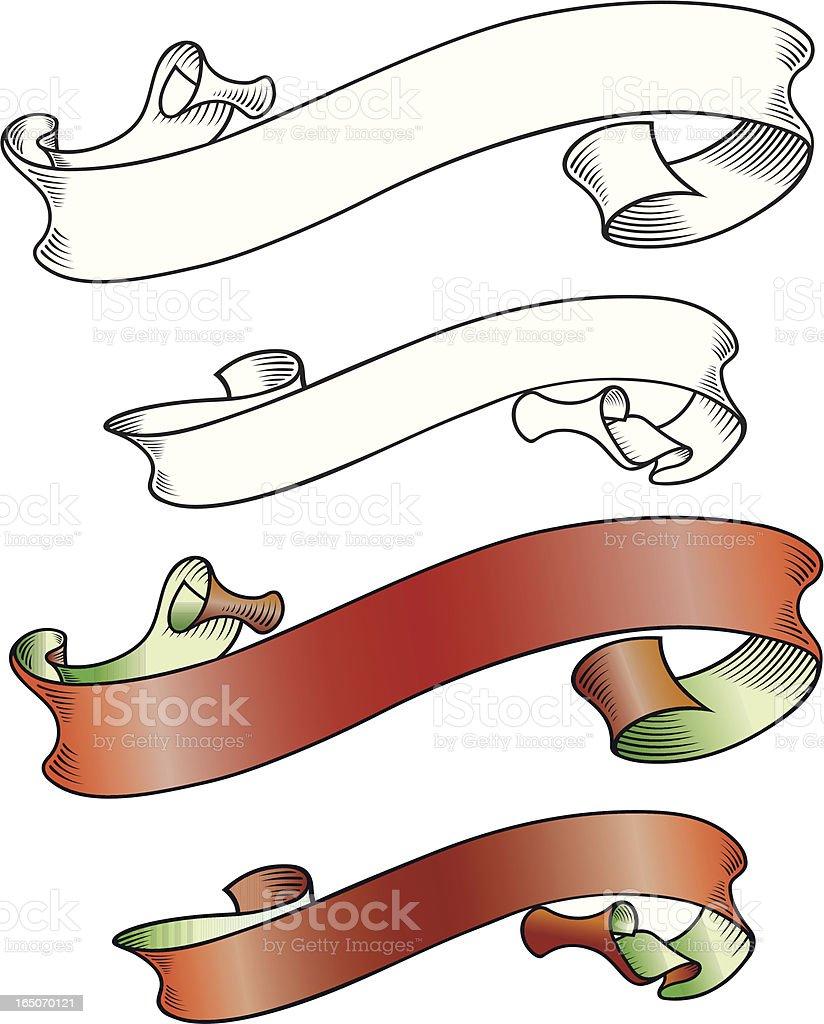 Ribbon Art royalty-free stock vector art