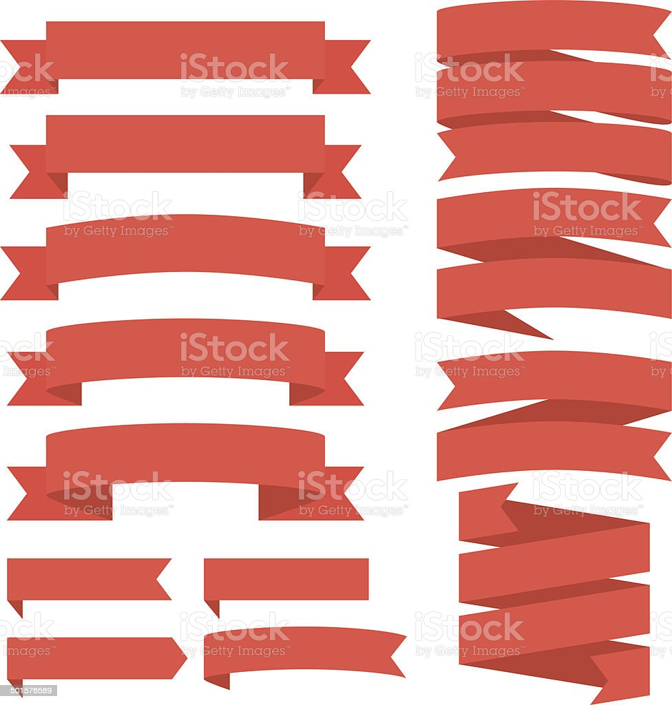 Ribbon Banners vector art illustration